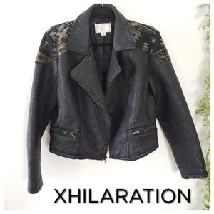 XHILARATION faux leather Moto jacket